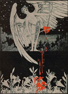 """Ephraim Moses Lilien (1874-1925), Illustration pour le Magazine """"Jugend"""" n° 50 - 1900"""