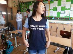My friend is teaching English in Korea. This is one of her students.