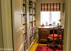 Maas & Impett, Library Study New Forest Interior design Lymington
