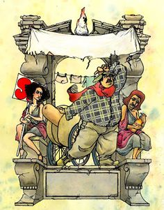 Just another blog of comics...: A confederacy of dunces, adaptated by M. Thomas Azzeigne (project with Roimodus Ed., no text).