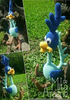 Muñeco Correcaminos Tejido Al Crochet, Amigurumi, Artesanal - $ 480,00 en Mercado Libre