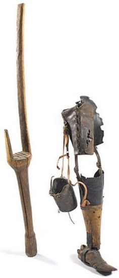 Image detail for -& technology, America, Civil War Confederate crutch & prosthetic ...