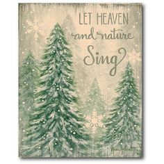 Courtside Market Let Heaven And Nature Sing 16 X Framed Wrapped Canvas Multi Products Christmas Signs, Christmas Art, Christmas Holidays, Christmas Wreaths, Christmas Decorations, Christmas Ornaments, Christmas Ideas, Christmas Windows, Miniature Christmas