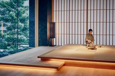 Japon Chiyoda, Tokyo - 1 Room - Tokyo Imperial Palace I Modern Japanese Interior, Japanese Style House, Japanese Interior Design, Japanese Home Decor, Japanese Modern, Modern Design, Japanese Bedroom, Japanese Geisha, Japanese Kimono