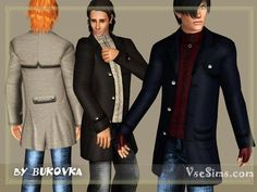 Пальто для мужчин sims 2