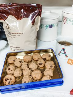 Marble Cake Chocolate Chip Cookies - New Ideas Arbonne Shake Recipes, Arbonne Protein Shakes, Protein Shake Recipes, Protein Cake, Protein Cookies, Protein Foods, Chocolate Chip Cookies, Cake Chocolate, Chocolate Chips