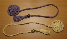 Crochet bookmark with tassel