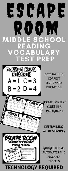 Assist your students with answering vocabulary questions. Questions include choosing the correct dictionary definition, locating context clues, and determining meaning of words. This resource is great for any middle school reading test prep.