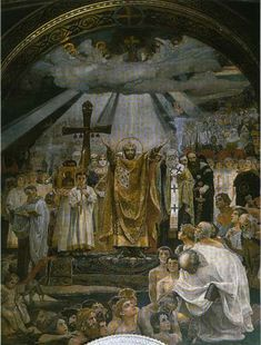 St Volodymyr's Cathedral. The Baptism of Kievans
