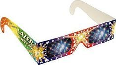 Amazon.com: 3D Fireworks Glasses - For Viewing Fireworks Displays, Raves and Laser Shows: Toys & Games