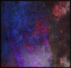 Galaxy Canvas Painting Tutorial for Beginners Sky Full Of Stars, Stars At Night, Glitter On Canvas, First Instagram Post, Night Sky Painting, Canvas Painting Tutorials, Watercolor Galaxy, Watercolour, Watercolor Night Sky