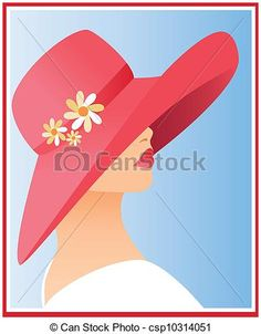 Vector - woman with hat - stock illustration, free illustration, stock . - CR Mays - - Vector - woman with hat - stock illustration, free illustration, stock . - CR Mays Painted Hats, Painted Rocks, Art Cart, Vector Art, Vector Kunst, Rock And Pebbles, Chalk Drawings, Decoupage Vintage, Paint And Sip
