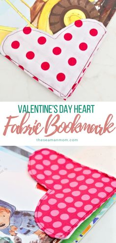 Sewing bookmarks has never been more enjoyable with these fabric bookmarks!, DIY and Crafts, Sewing bookmarks has never been more enjoyable with these fabric bookmarks! Make your own bookmark for personal use or make a cute heart bookmark as a. Easy Sewing Projects, Sewing Projects For Beginners, Sewing Hacks, Sewing Tutorials, Sewing Crafts, Sewing Tips, No Sew Projects, Crochet Tutorials, Valentines Day Hearts