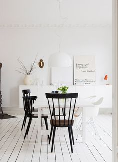 Inside an Airy and Feminine Scandinavian Apartment via Scandinavian Apartment, Scandinavian Home, Dining Room Inspiration, Home Decor Inspiration, All Modern Furniture, Australian Interior Design, Decorating Small Spaces, Dream Decor, Cool Rooms