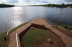 view terrace + pavilion by DJA in koknese, latvia