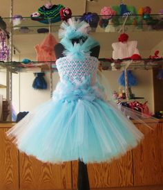 The Lady Cadence Princess Dance Tutu Dress withTulle Crown Headband inspired by Cinderella
