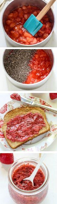 Zdravá marmeláda - jahody s chia semínky