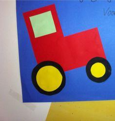 De rode tractor van boer Boris