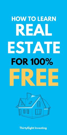 Learn how real estate investing works and how to begin real estate investing for free! These tips will help guide the beginner investor to finding ways to learn about rental property investing for free. Real Estate Investing, Rental Property, Personal Finance, Budgeting, Articles, Learning, Tips, Free, Studying