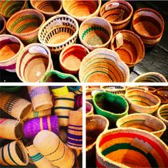 The colourful beauty of 'From Afar Crafts' baskets made by the Kasigau weavers of Kenya.  http://www.fromafarcrafts.com