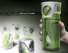 Tea Timer Travel Mug - Simply attach your tea sachet to the clip, set the timer, and enjoy the perfect cup of tea.