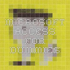microsoft access for dummies pdf