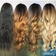 It's important for those wanting to go blonde, platinum, Session 2 & Blonde from black won't happen over night! Black To Blonde Hair, Going Blonde, Hair Day, New Hair, Hair Color And Cut, Hair Transformation, Ombre Hair, Hair Looks, Hair Inspiration