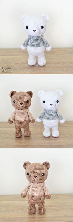Crochet Pattern - Xander the Lovely Winter Bear - Amigurumi #crochetbear