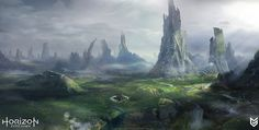 - https://www.artstation.com/artwork/VQGAnArtStation - Horizon: Zero Dawn - Old world concepts, Lloyd Allan