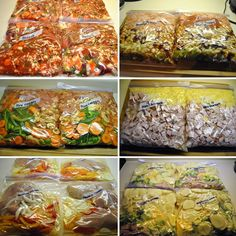 This woman made 28 freeze ahead meals for her family of three for under $200! Includes a how-to and the recipes she used! Must pin! #cheap #crockpot #recipes