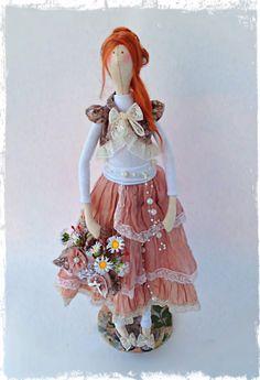 Интерьерная текстильная  кукла Тильда в стиле бохо                                                                                                                                                                                 Mais