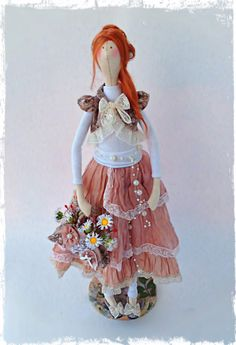 Interior textile Tilde boho style doll by LilyDollsGifts on Etsy ♡ lovely doll