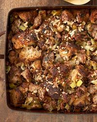 Prosciutto-Bread Stuffing with Sausage Recipe // More Great Ideas for #Thanksgiving: http://www.foodandwine.com/ultimate-thanksgiving #foodandwine