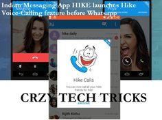Indian Messaging App HIKE launches Hike Voice-Calling feature before Whatsapp
