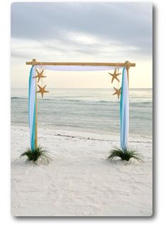 Found this for the perfect beach wedding arch! I love it! =)