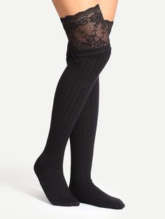Shop Black Non-slip Lace Trim Cotton Tights online. SheIn offers Black Non-slip Lace Trim Cotton Tights & more to fit your fashionable needs.