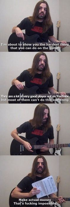 The hardest thing you can do on guitar   funny pictures