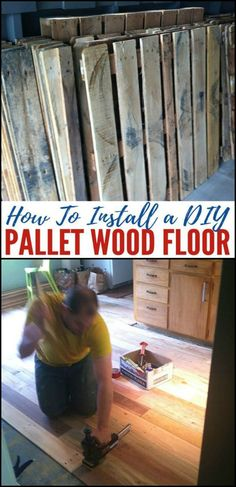 Timber Flooring Ideas Made From Recycled Pallets