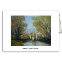 Autumn Down By the Lake, Canberra, Australia Greeting Card
