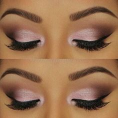 Beautiful Pink With Brown Smokey Eye Shadow Looks