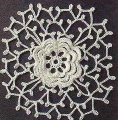 Flower Crochet Lacy Square ⋆ Crochet Kingdom