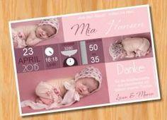 Danksagungskarten Geburt Geburtskarte MUSTER 94 - Bild vergrößern