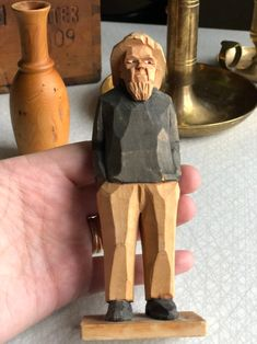Excited to share this item from my shop: Swedish hand carved old fisherman sailor figurine painted from Old Fisherman, Storytelling, Hand Carved, Sailor, Scandinavian, 1960s, Vintage Items, Sewing Projects, At Least