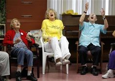"""Dr. Funshine"" prescribes laughter yoga for seniors"