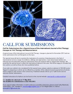 Call for Submissions to International Journal of Art Therapy   Art Therapy and Neuroscience
