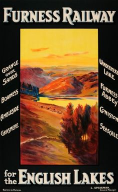 Lake District Furness Railway, 1920s - original vintage poster listed on AntikBar.co.uk