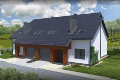 Funkcjonalne pomieszczenia gospodarcze i duży garaż to dodatkowe atuty projektu.