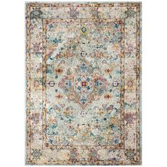 Shop Safavieh Aria Cathrine Vintage Boho Oriental Rug - On Sale - Overstock - 22710629 - x - Beige/Blue Oriental Pattern, Oriental Rug, Beige Background, Rug Cleaning, Displaying Collections, Blue Area, Fashion Room, Persian Rug, Beige Area Rugs