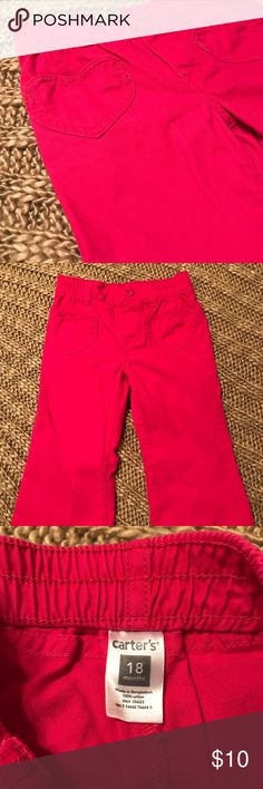 Carters 💗 hot pink girls pants 💗 Carters 💗 girls hot pink pants. Adorable heart pocket detail. Wide leg. Excellent shape. 💗 Carter's Bottoms Casual