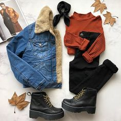 Un outfit muy stranger things Teen Fashion Outfits, Cute Fashion, Outfits For Teens, Look Fashion, Trendy Outfits, Korean Fashion, Outfits Otoño, Fall Winter Outfits, Autumn Winter Fashion